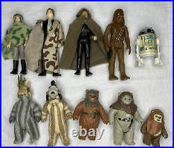 Vintage Star Wars Kenner 10 Figure Lot #7 Endor/Ewok