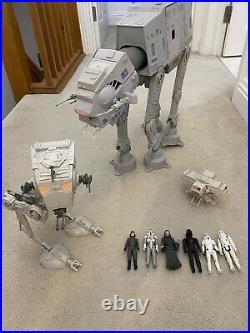 Vintage Star Wars Kenner AT-AT & AT-ST Walkers WithFigures