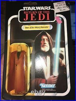 Vintage Star Wars Kenner Ben (Obi-wan) Kenobi ROTJ Return of the Jedi 77 back