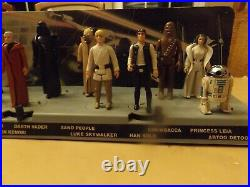 Vintage Star Wars Mailaway Stand withBackdrop + First 12 Star Wars Figures! Clean