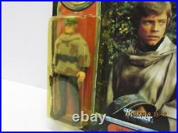 Vintage Star Wars Potf Luke Skywalker Battle Poncho Moc Action Figure Last 17