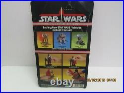 Vintage Star Wars Potf Sand Skimmer Vehicle Card Action Figure Moc Afa Last 17