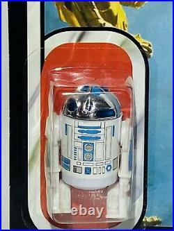 Vintage Star Wars R2-D2 Sensorscope Carded Action Figure MOC Clear Bubble