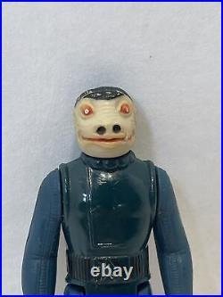 Vintage Star Wars Snaggletooth Blue Action Figure 1978 Hong Kong (166)