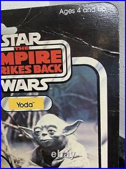 Vintage Star Wars Yoda Carded Figure MOC Original Factory Sealed Rare Retro