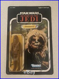 Vintage Star wars Rare Alternative Chewbacca ROTJ 77 back MOC carded figure