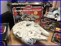 Vintage original star wars figures Millennium Falcon Slave1 Palitoy Kenner