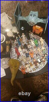 Vintage star wars figures job lot kenner inc boba fett, ships, rare characters